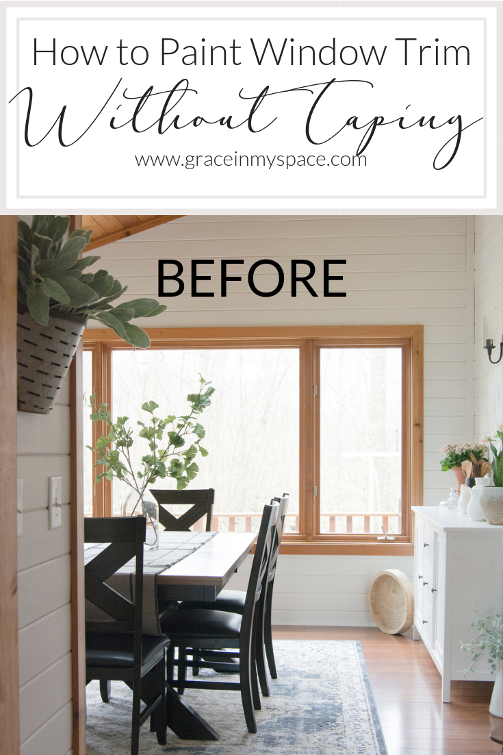 How To Paint Window Trim Without Tape Interior Window Trim Painting Trim White Wood Window Trim