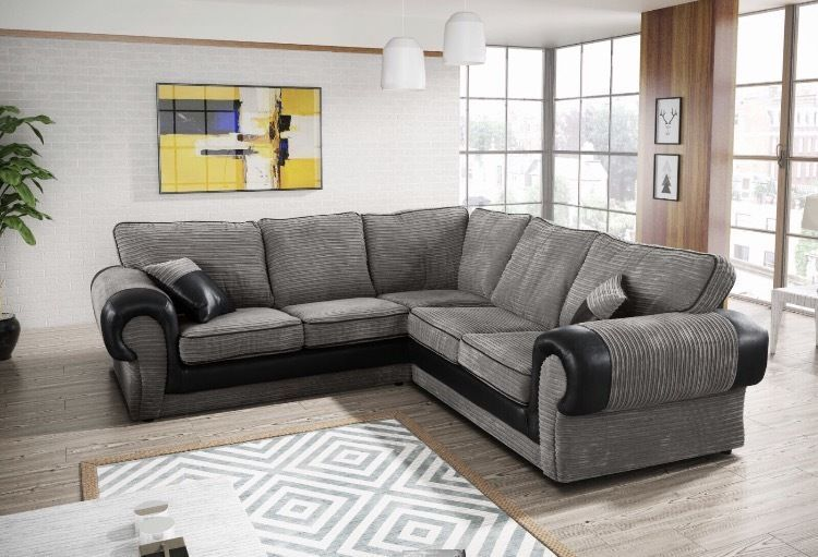 New Full Back Tango 5 Seater Corner Sofa Jumbo Grey Black Or Beige Brown Fabric Home Furniture Diy F 5 Seater Corner Sofa Corner Sofa Modular Corner Sofa