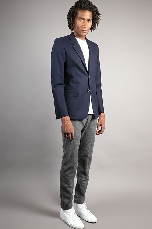 Outfit from Graduate Store with an APC Truman jacket, a YMC wool pant and  white