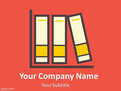 Free Book Shelf PowerPoint Template Years Pinterest Templates