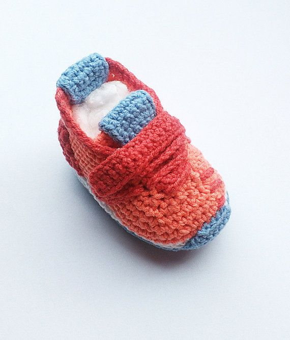 Crochet baby sneakers, Crochet Adidas Pure Boost style baby