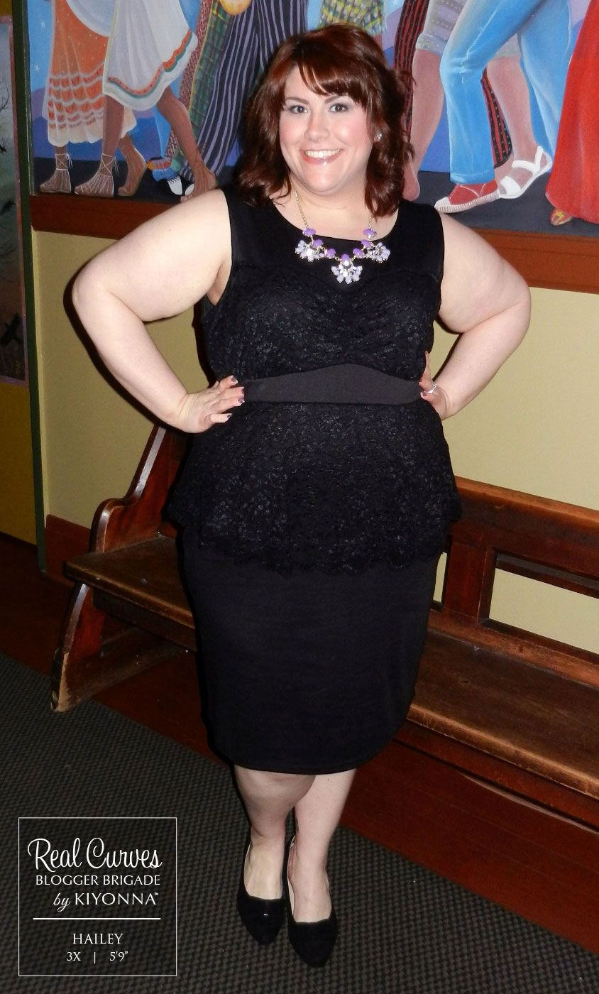 Real Curves for Lady in Lace Peplum Dress   delicious   Pinterest ...
