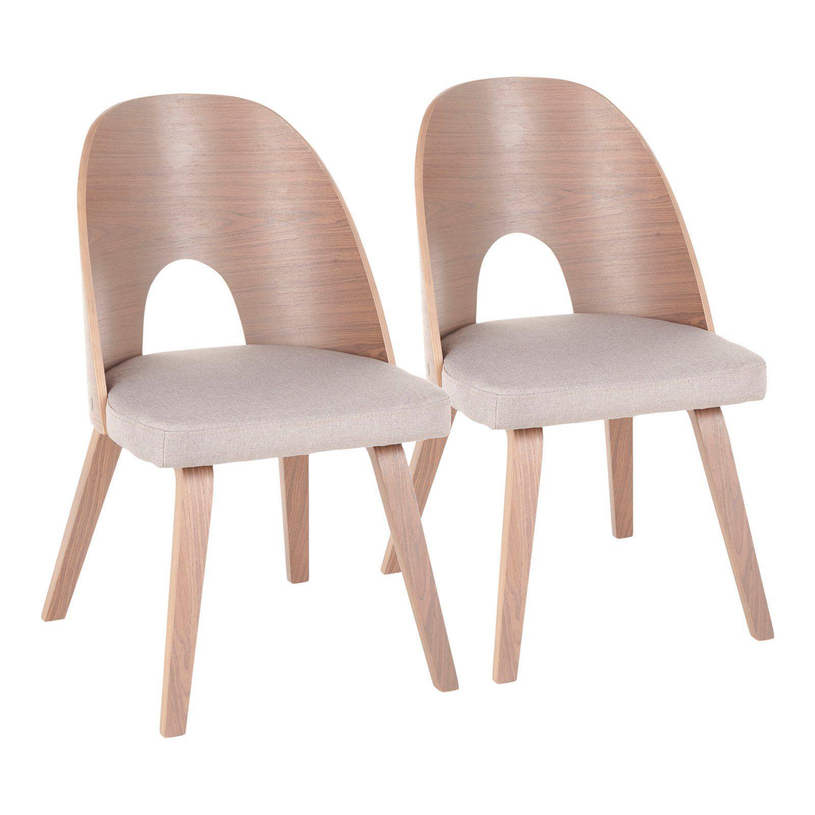 Lumisource Ellen Keyhole Dining Side Chair Set Of 2 Light Gray