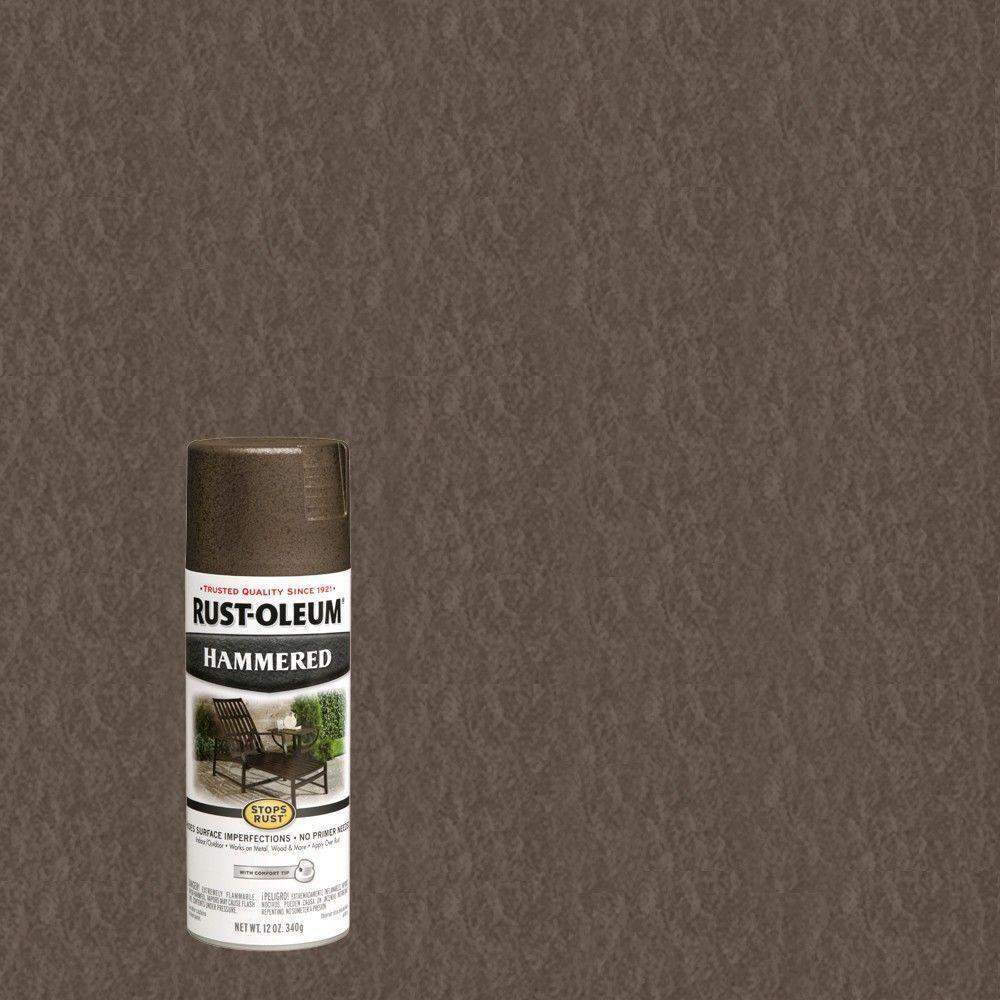 Rust Oleum Stops Rust 12 Oz Dark Bronze Protective Enamel Hammered Spray Paint 7218830 The Home Rustoleum Spray Paint Bronze Spray Paint Copper Spray Paint