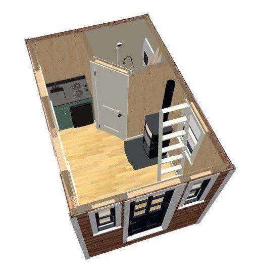 jason mcqueens 812 tiny house design - 8x12 Tiny House On Wheels Plans