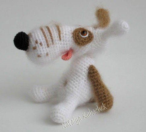 Project by Natalia Kabachek. Crochet pattern Dog Lucky by Borisenko for LittleOwlsHut #LittleOwlsHut, #Amigurumi, #Borisenko, #CrochetPattern