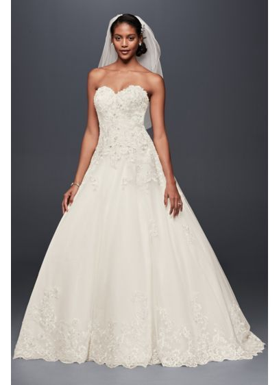 cc2b78d5e512f Beaded Lace and Tulle Ball Gown Wedding Dress V3836   Wedding ...