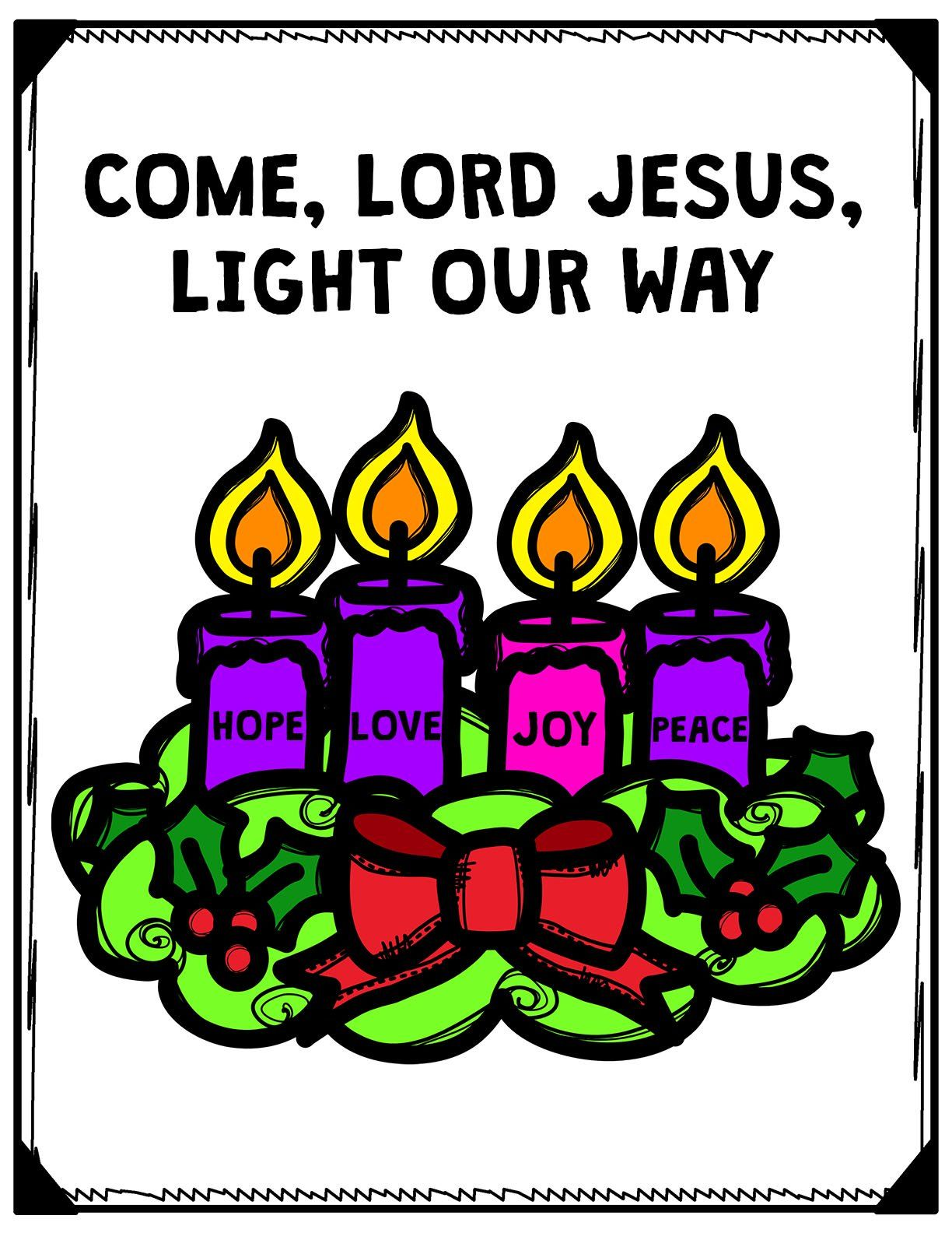 This Advent Wreath Poster Comes In 2 Versions Color And B