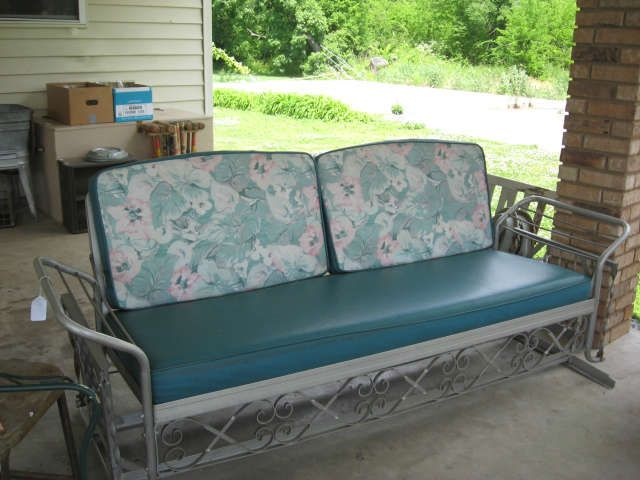 J R Bunting Sleeper Glider Vintage Outdoor Furniture Vintage Patio Furniture Glider Cushions