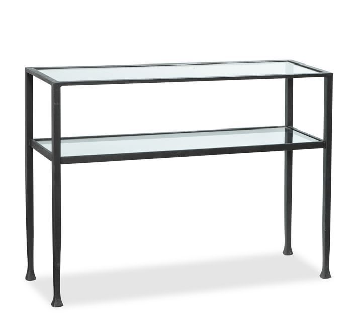 tanner console table - bronze finish-this simple console is a great