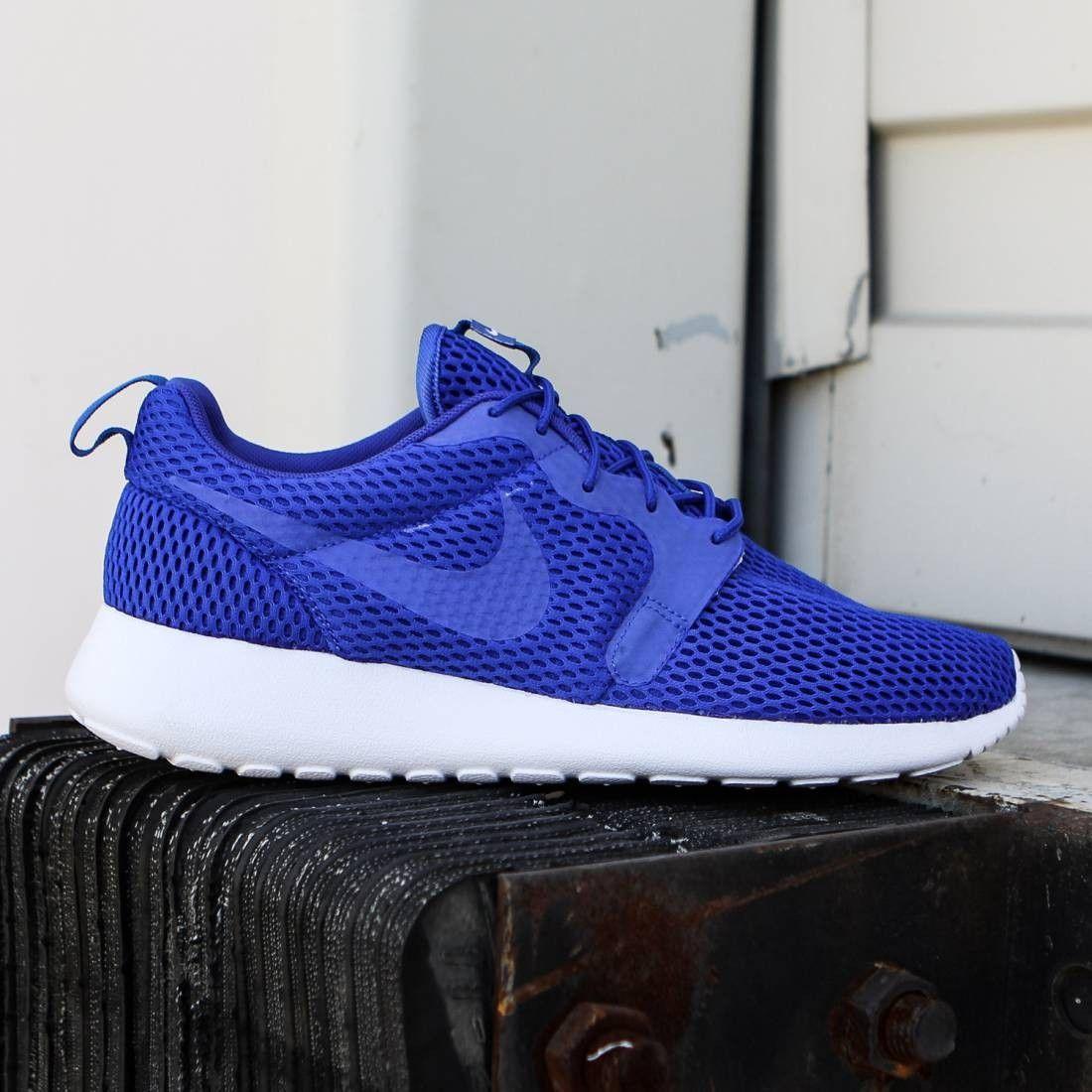 Nike Men Roshe One Hyperfuse Br Racer Blue White Racer Blue Nike Men Sport Shoes Sneakers Nike