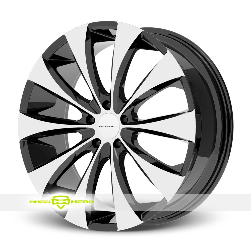 KMC KM679 Fader Machined Black Wheels For Sale