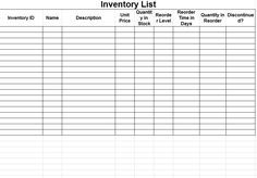 inventory tracking spreadsheet template free inventory sheet