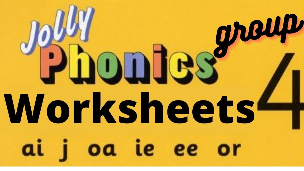 JOLLY PHONICS worksheets   GROUP 4 for LKG [ 720 x 1280 Pixel ]