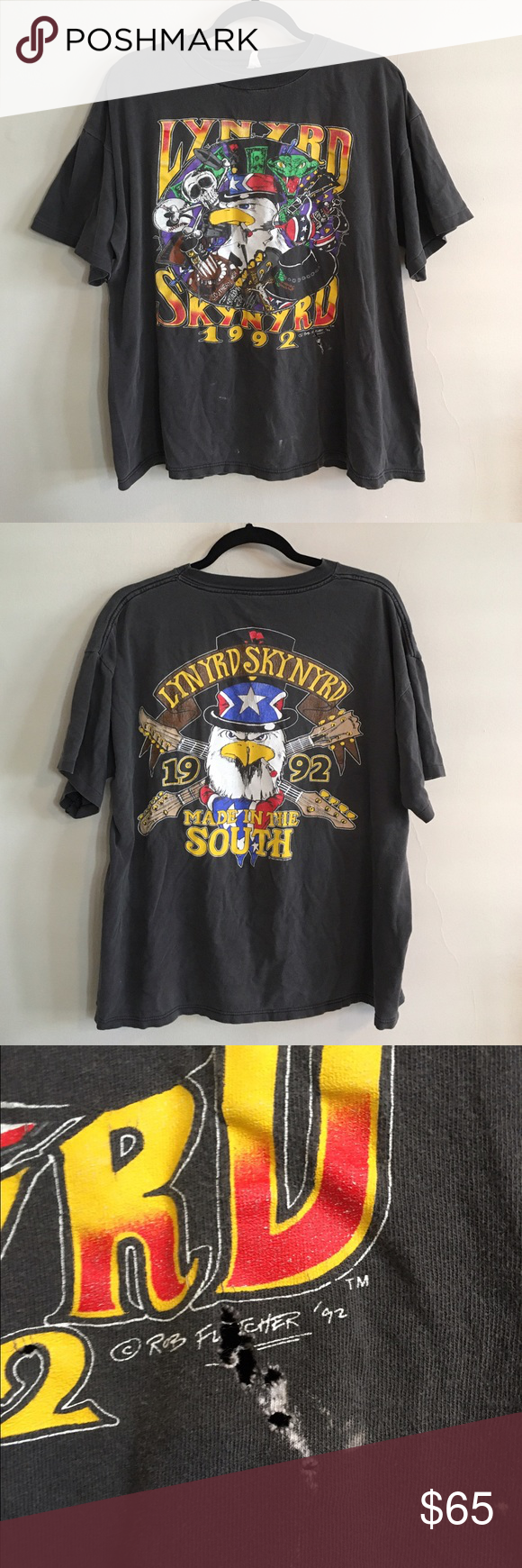 4cc15081b89d70 Vintage Lynyrd Skynyrd Tour T-shirt Authentic vintage 80s 90s Lynyrd  Skynyrd Country Southern Concert Shirt Vintage Tops Tees - Short Sleeve