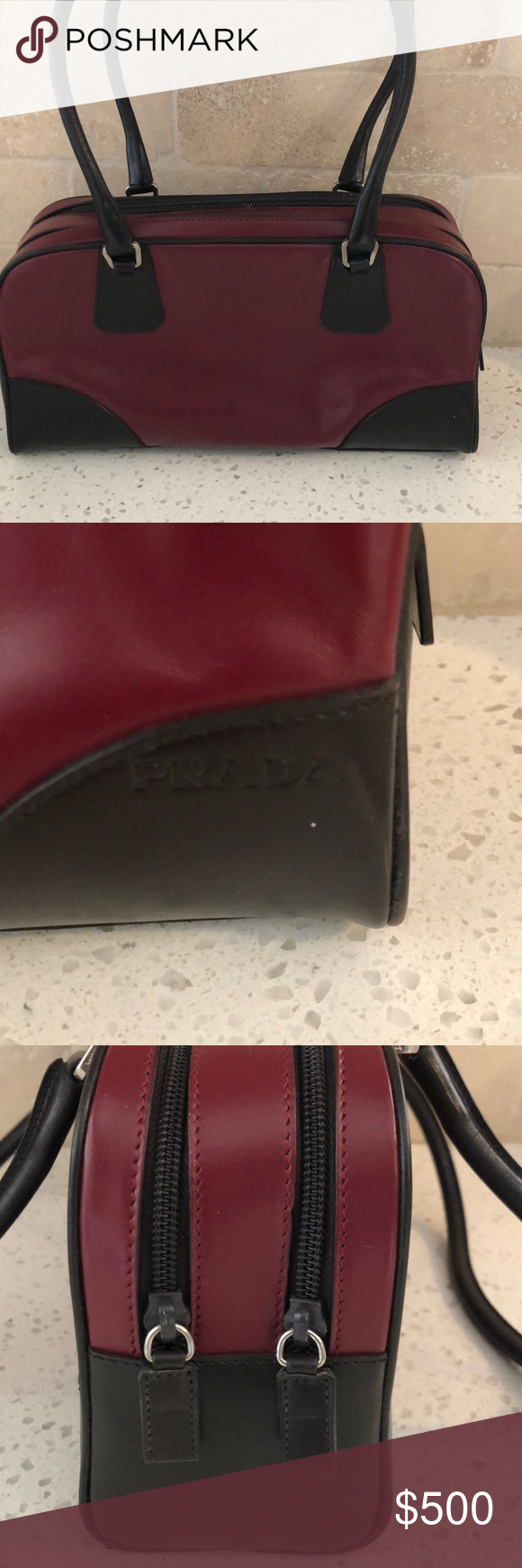 620f286423bc9 Prada shoulder bag. Wine color Gorgeous Prada shoulder bag. Wine color.  Used less than 5 times. In almost brand new condition Prada Bags Shoulder  Bags