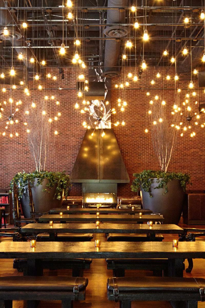 Designed By Philippe Starck This Boutique Gem Marries Converted Industrial Architecture With Art Nou Restaurant Interior Design Beer Garden Design Cafe Design