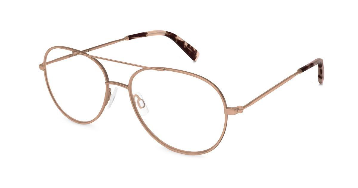 34535798099cf York Eyeglasses in Rose Gold for Women. York, a vintage-style ...