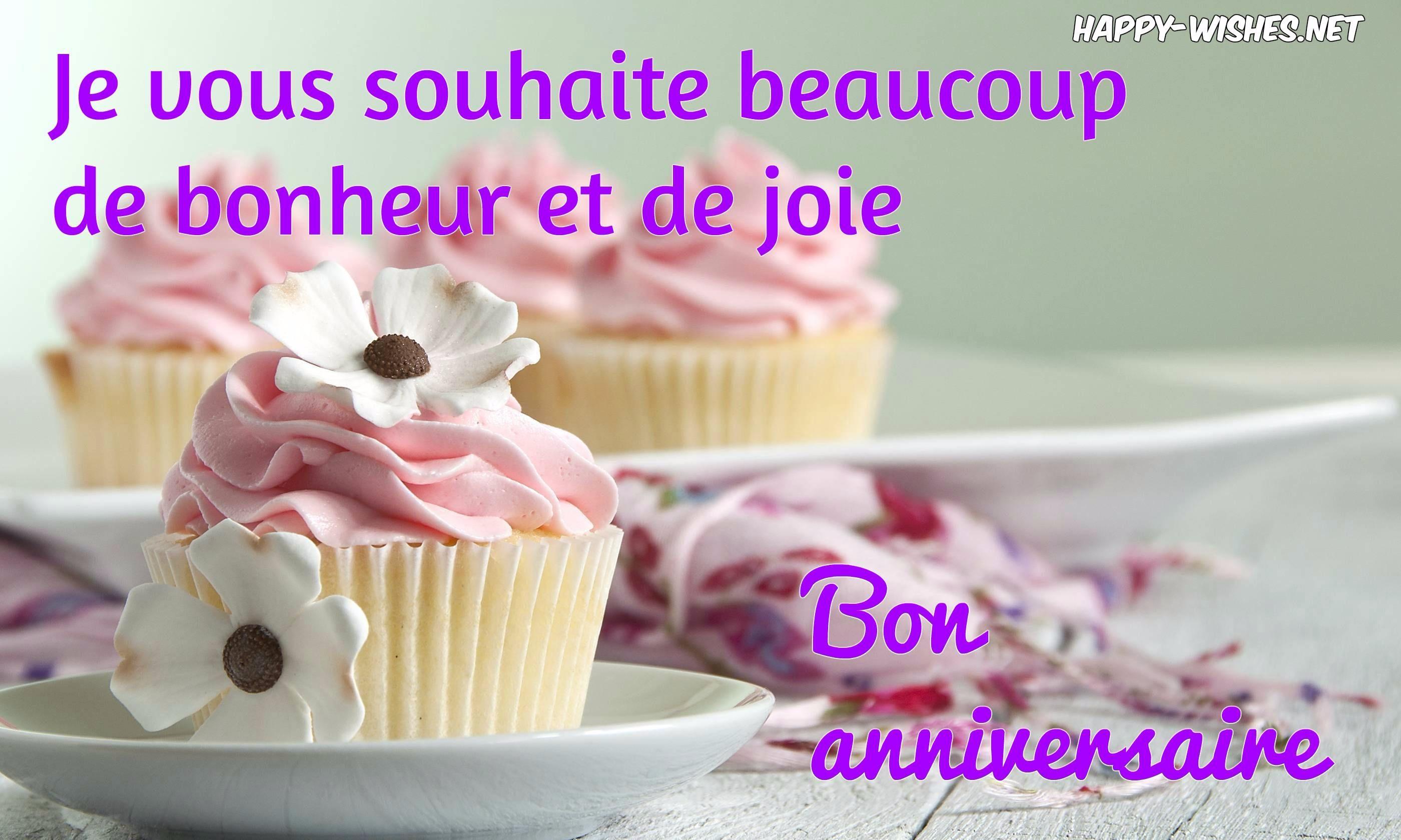 Happy Birthday (Bon anniversaire) Wishes In French Happy