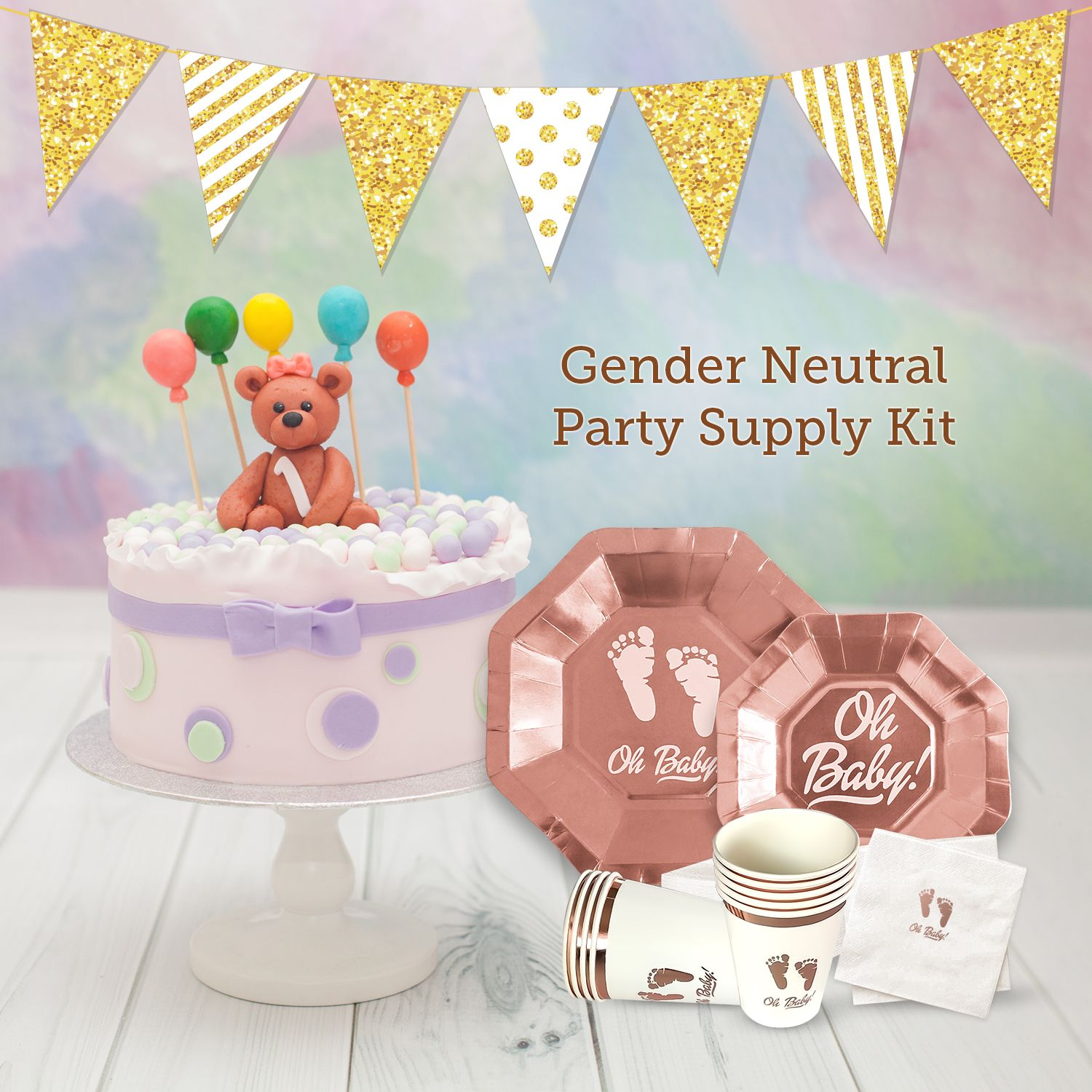 Get the one baby shower party supplies kit that's the