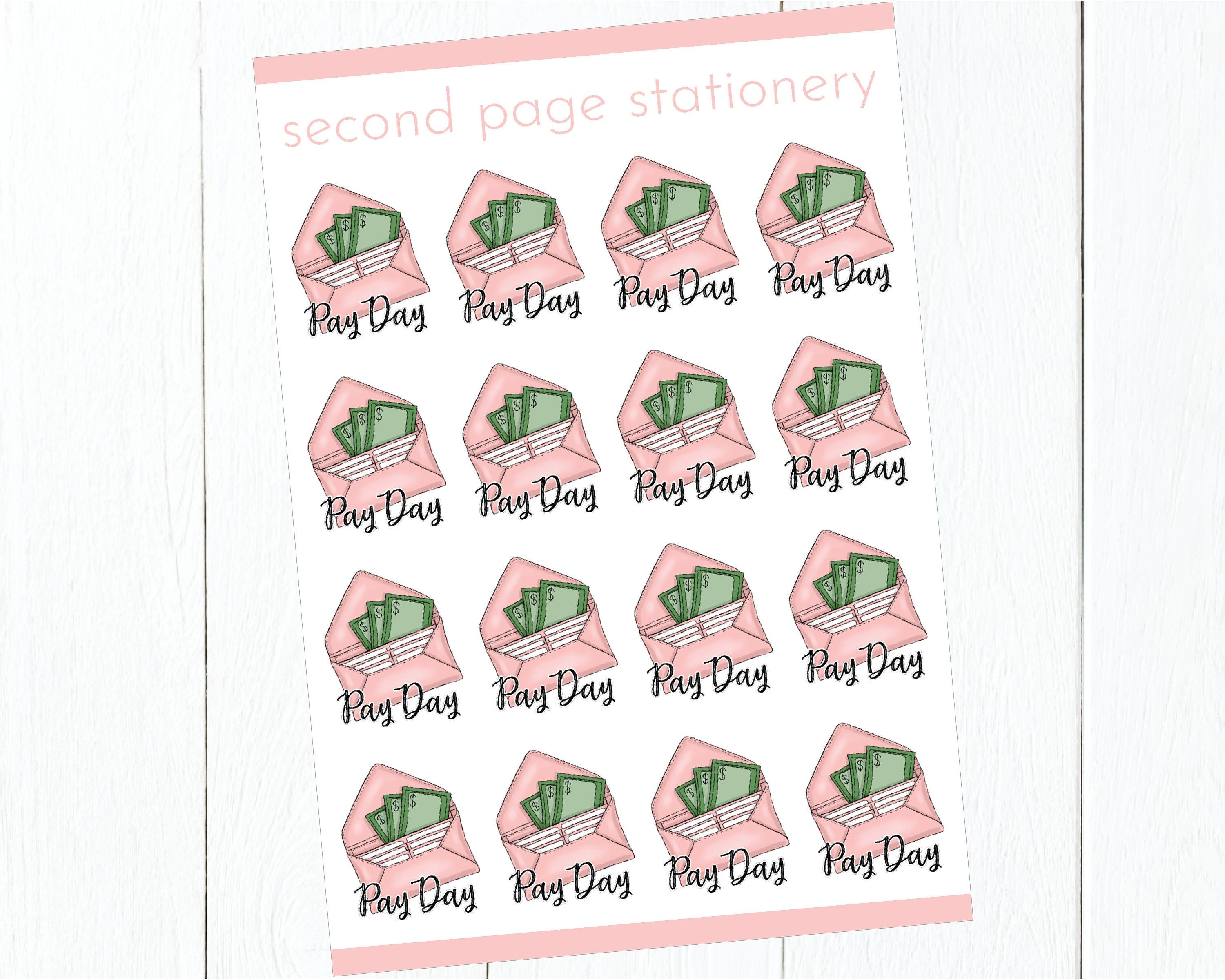 Payday stickers planner icon stickers glossy or premium
