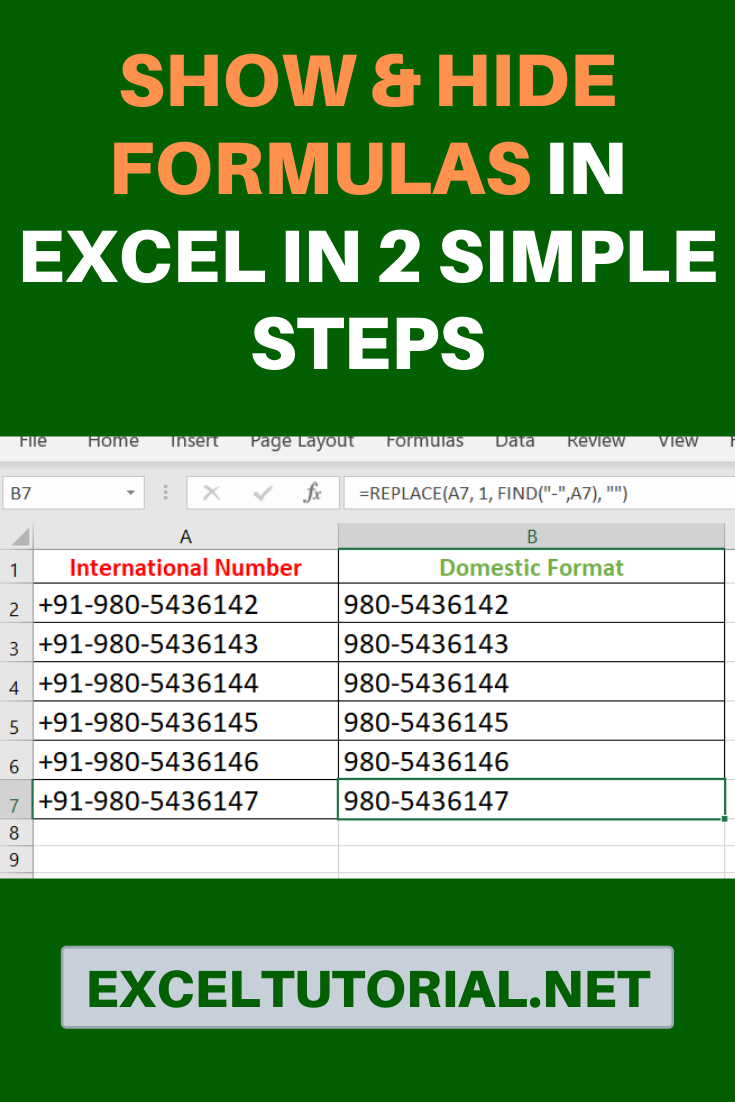 Show Hide Formulas In Excel In 2 Simple Steps In 2020 Excel Hacks Excel Shortcuts Microsoft Excel Formulas