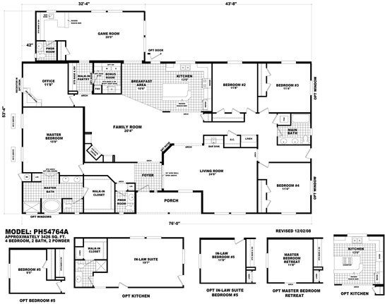 Floor Plan PH B Pinehurst Triplewides Homes By Cavco West Cavco