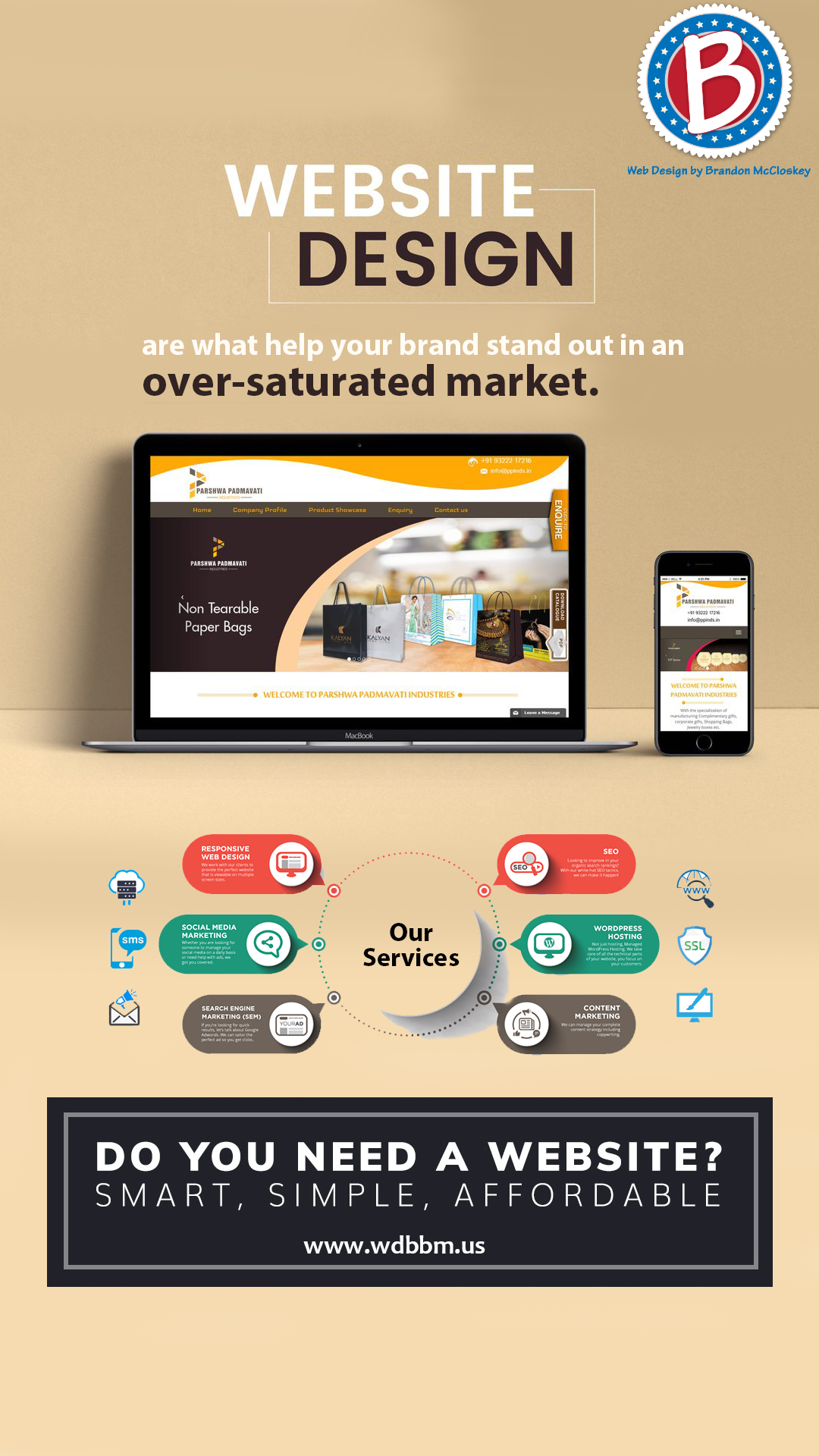 Authentic High Value Websites Are What Help Your Brand Stand Out In An Over Saturated Market Contact Us For Web Design Website Design Company Hosting Company