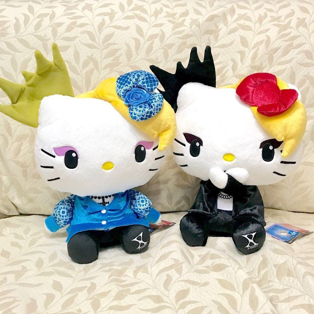 New Hello Kitty X Japan Yoshiki Yoshikitty Plush Doll Stuffed Sanrio Japan F//S