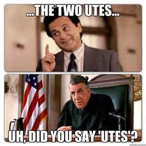 The Two Utes Uh Did You Say Utes My Cousin Vinny My