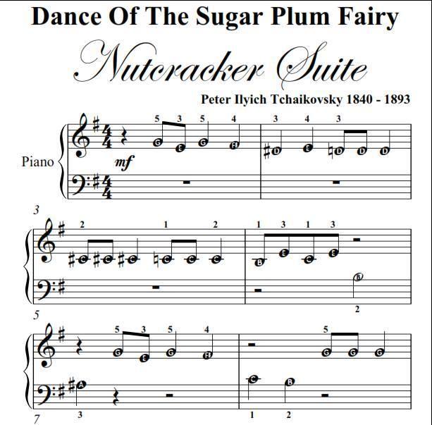 Dance Of The Sugar Plum Fairy Nutcracker Beginner Piano