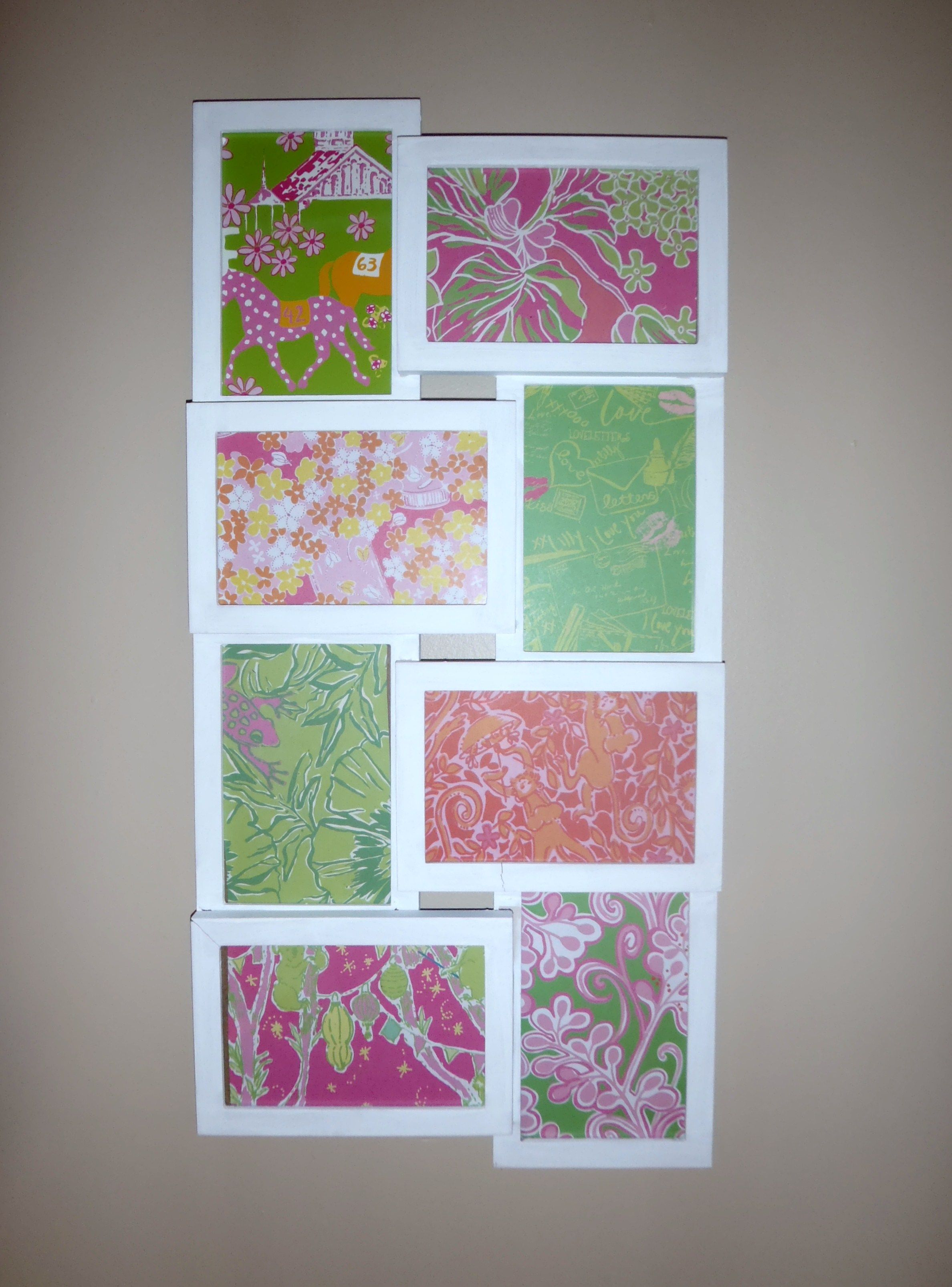 Lilly Pulitzer wall collage I made from recycled agenda paper and a ...