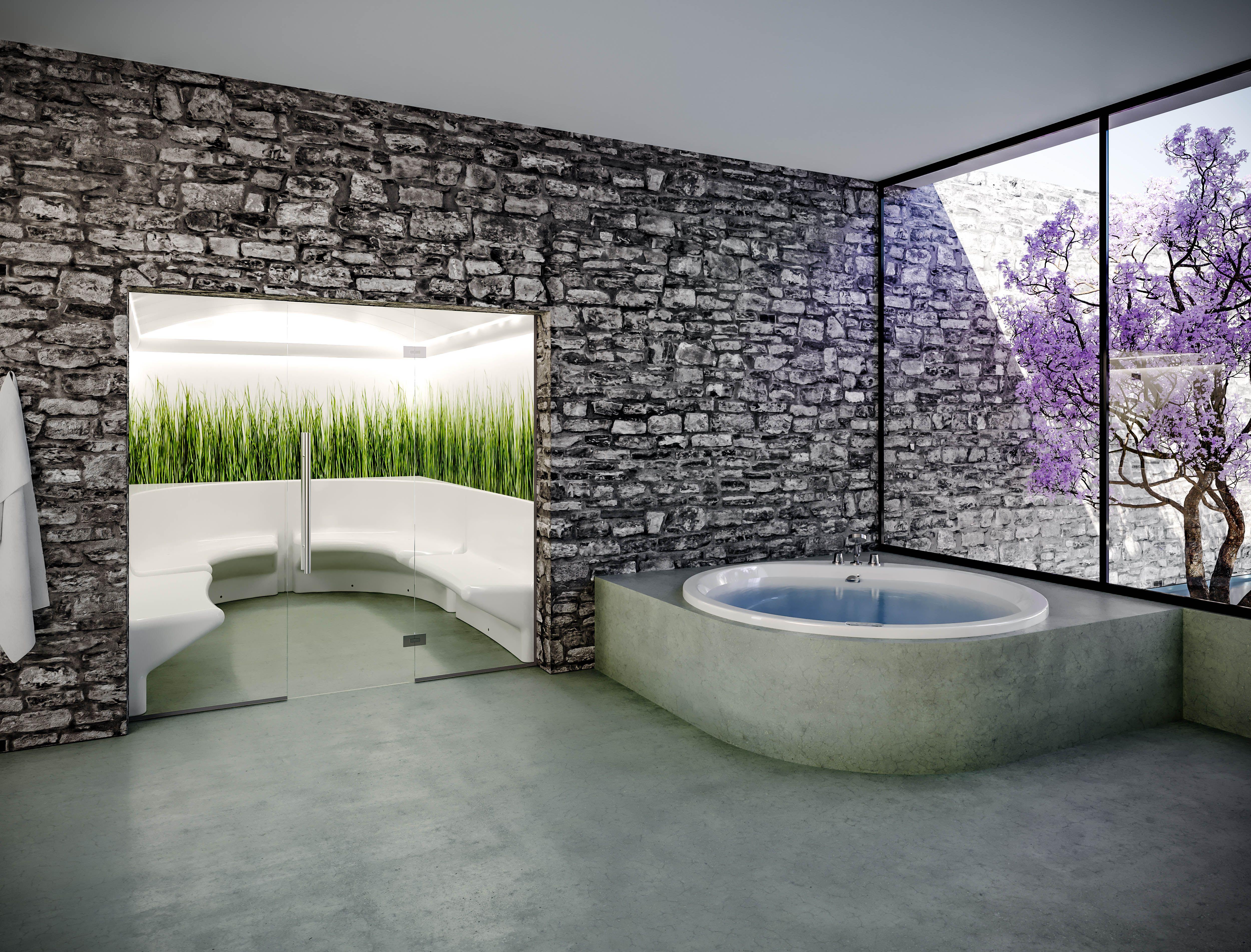 Cleopatra hoekbad rond nieuw 2018 sanidrome badkamer | 1. Hoekbad ...