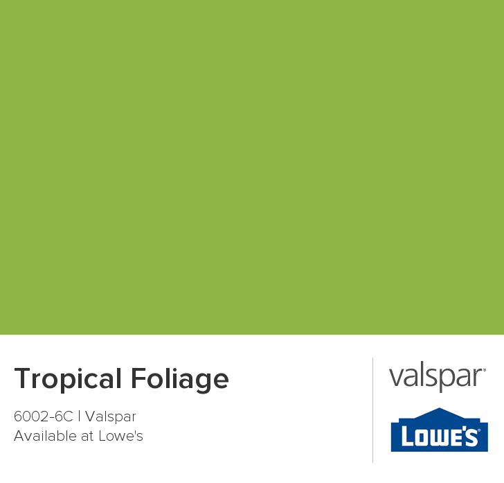 Valspar Paint - Color Chip - Tropical Foliage