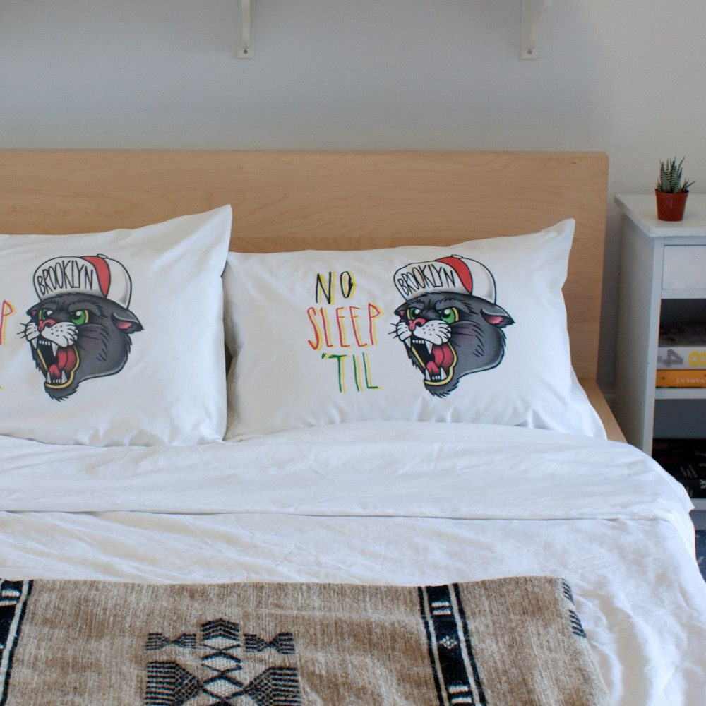 Rik Lee pillow case - No Sleep til Brooklyn | Stay Home Club $30 for one, $50 for two