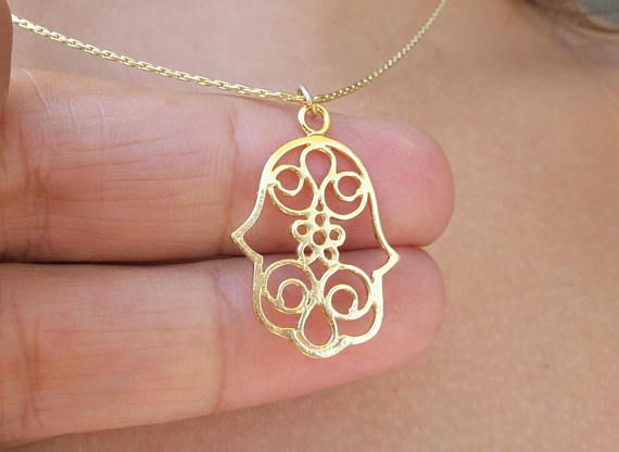 Large hamsa hand necklace protection hand jewelry necklace large hamsa hand necklace protection hand jewelry necklace etsymktgtool http mozeypictures Image collections