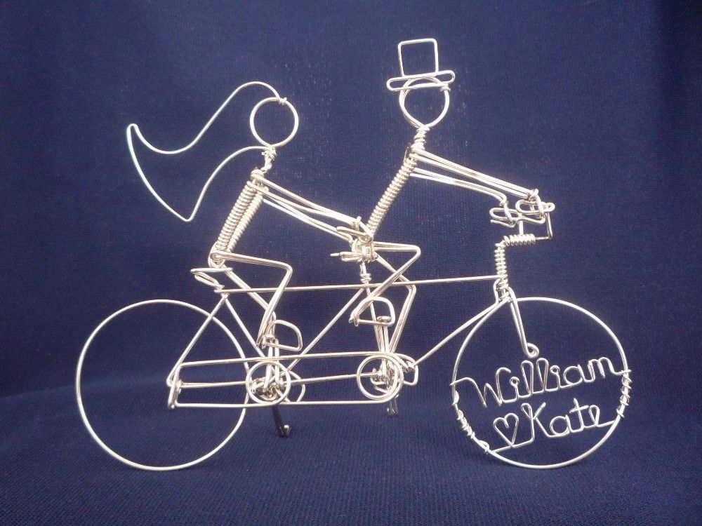 Tandem Bicycle Wedding Cake Topper With Riders Royal