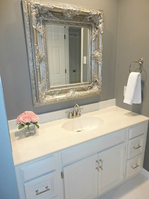 DIY Bathroom Remodel for under $100! Design Pinterest Diy