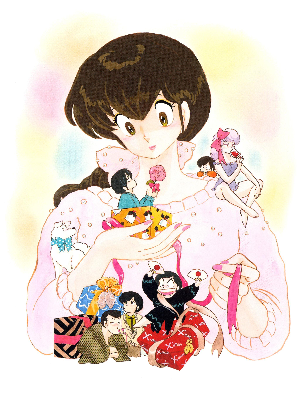 maison ikkoku めぞん一刻 高橋留美子 ロマンスアニメ ポスターの模様