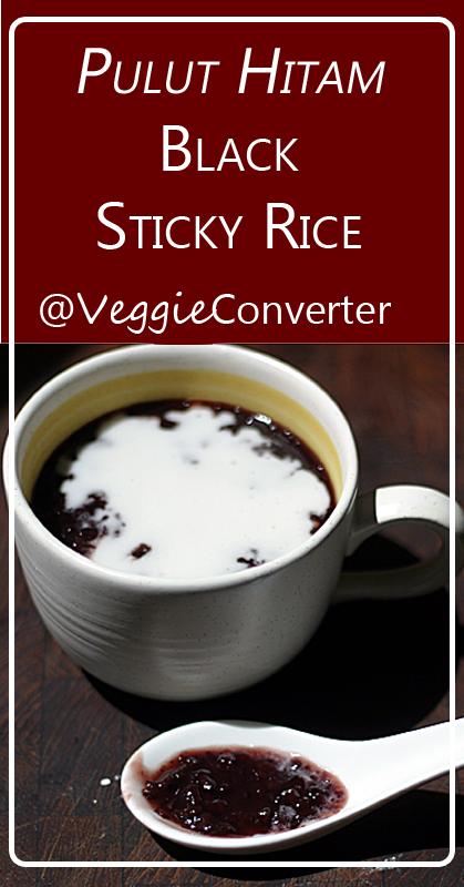 "Black Sticky Rice ""Pulut Hitam"" | @VeggieConverter vegan kidfriendly paleo"