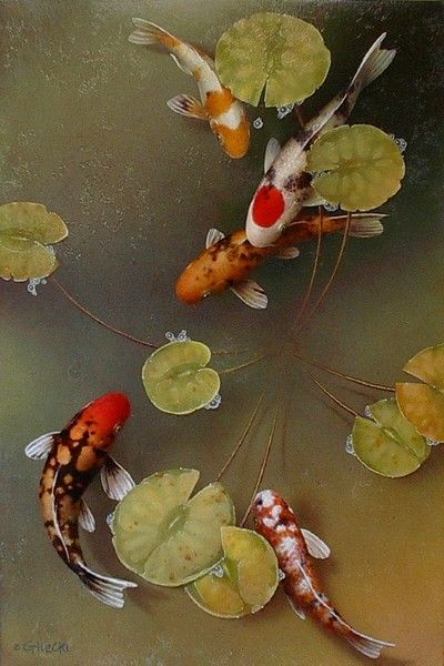 Out of obscurity by terry gilecki koi pinterest for Koi art nature