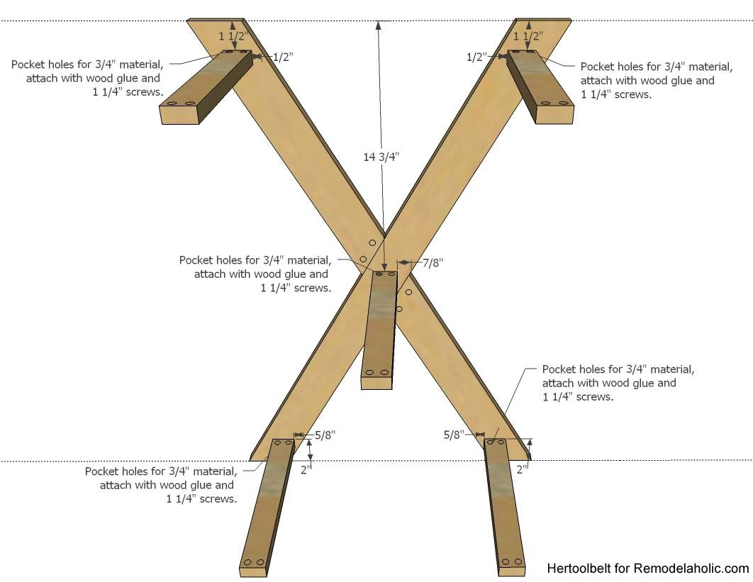 Diy double x console table for less diy and crafts and console an easy build diy double x console table for your entryway build for less geotapseo Choice Image