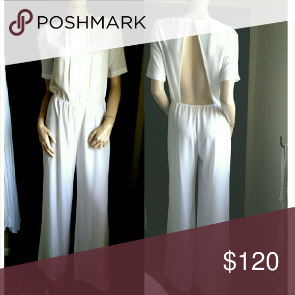 Bcbg Maxazria Jumpsuit xs White Madison New BCBGMaxAzria Dresses Maxi