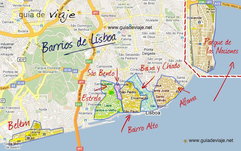 mapa interactivo lisboa Balade à Lisbonne | carte lisbonne | Pinterest | Lisboa, Viagens e  mapa interactivo lisboa