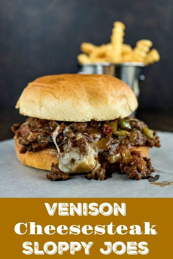 Venison Cheesesteak Sloppy Joes are a burger and cheesesteak in every mouthwatering bite! Easy to m