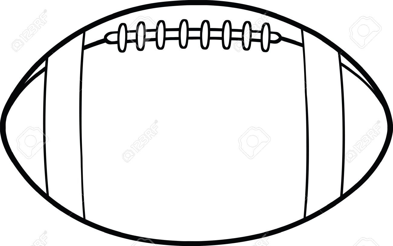 Black And White American Football Ball Cartoon Illustration Creative Logo Abstract Logo Black And White Abstract