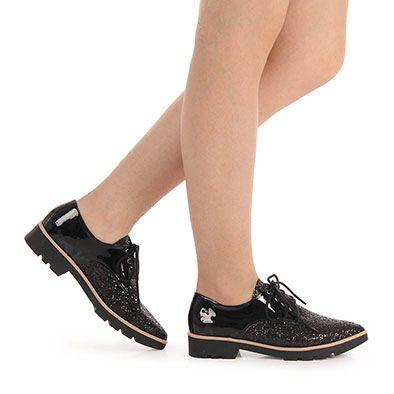 0090c60c54 Sapato Oxford Feminino Brenda Lee - Preto - Passarela.com