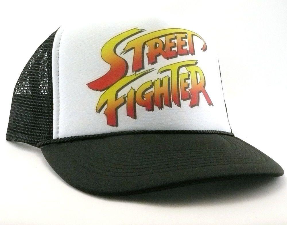 10fdf5fafd7f5 Street Fighter Trucker Hat mesh hat snap back hat black new adjustable game  hat  Unbranded  Trucker