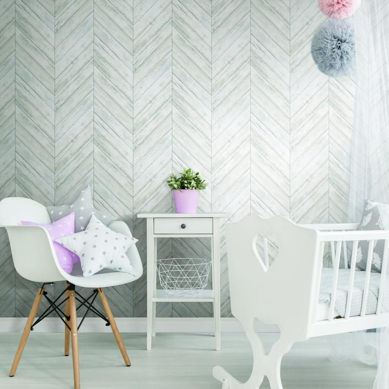 White Chevron Wood Boards Peel And Stick Wallpaper Peel And Stick Wallpaper Herringbone Wood Herringbone Wallpaper