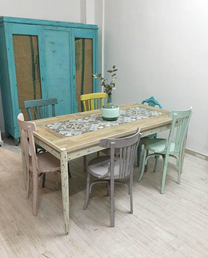 Muebles reciclados un armario con sacos de cafe chalk - Muebles reciclados vintage ...